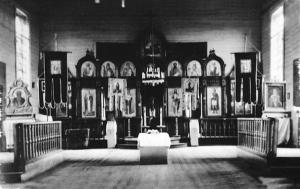 Інтер'єр спаленої церкви села Збереже на Холмщині. © kholm1938.net